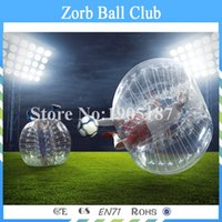 Wholesale Inflatable Human Body - Free shipping Summer Outdoor Bubble Football Inflatable Human Hamster Ball 1.5m PVC Air Bumper Body Ball, Bubble Soccer Zorb Ball For Sale