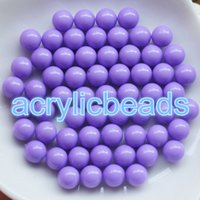 Wholesale Bead Craft Ball - 80pcs 14MM no Hole Pastel Plastic Gumball Balls Opaque Solid Acrylic Round Beads without Hole Craft Making Charms DIY