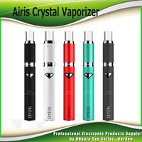 Wholesale Crystals Tops Wholesale - Original Airistech Airis Crystal Heating Wax Pen Vaporizer Starter Kits 500mAh Rechargeable Battery Top Airflow Wax Atomizer 100% Genuine