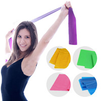 Wholesale Tpe Belts - 1.5M*15CM*0.35MM TPE TPR Yoga Band Elastic Fitness Training Band Plates Resistance Bands Yoga Expansion Band Exercise Belt