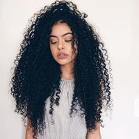 """Wholesale Brazilian Kinky Curly Lace Front - 360 Lace Frontal Human Hair Wigs 250% Density Human Hair Lace Frontal Wig 12-24"""" Full natural Human Hair Wigs For Black Women"""
