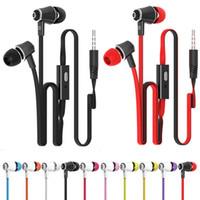câble de casque de nouille achat en gros de-JM21 Écouteurs Super Bass Écouteur Stéréo HIFI casque Avec Microphone 3.5mm Nouilles Câblé Dans-oreille casque Pour Samsung iPhone XiaoMi