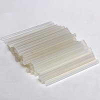 Wholesale Craft Sticks Wholesale - 50pcs lot 7mmx100mm Clear Glue Adhesive Sticks For Hot Melt Glue sticks for Glue Gun Car Audio Craft Alloy Accessories Hot Sale