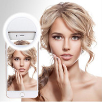 Wholesale pick phone - Rechargeable Selfie Led Camera Phone Photography Ring Light Enhancing Photography for Smartphone iPhone Samsung Pink White Blue pick