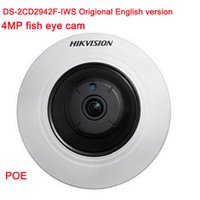 Origional Versione italiana DS-2CD2942F-IWS 4MP wifi Fisheye Network ip videocamera di sicurezza con Fisheye PTZ view