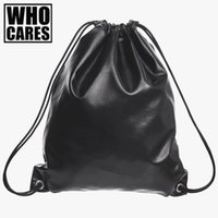 Wholesale Parties For Teenagers - Wholesale- Black leather mini backpack women drawstring bag 2016 New Travel Bag PU backpack women Party school bags for teenagers sac a dos