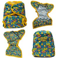 Wholesale Double Gussets - Wholesale-JinoBaby Cloth Nappies Double Gusset Diaper Covers Reusable Baby Diapers Couche Lavable Waterproof Diaper Cover (Without Insert)