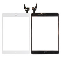 Wholesale Glass Ipad Mini Ic Connector - for iPad mini 3 White High Quality New Touch Screen Glass Digitizer Assembly Replacement with 3 Color Home Button & Flex Cable+ IC connector