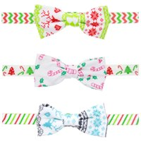Wholesale Snaps Hairpins - Christmas mini hairbow with clip   Christmas theme  Baby Snap Clip Bow