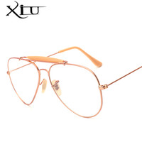 Wholesale Top Brand Eyeglasses Wholesale - Wholesale- XIU Three Beam Eyeglasses Women Men Brand Designer Sun glasses Men Retro Vintage Fashion Eyewear Top Quality UV400