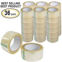 "Wholesale Heat Resistant Box - 36 Rolls Box Carton Sealing Packing Packaging Tape 2""x110 Yards(330' ft) Clear"