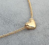 Wholesale Trendy Wholesale Shorts - Wholesale-Trendy Tiny Heart Short Pendant Necklace Women Gold Plated Chain Lover Lady Girl Gifts Bijoux Fashion Jewelry