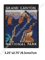 Wholesale Arizona Clothing - GRAND CANYON NATIONAL PARK ARIZONA Travel Souvenir Patches FULL Embroidered Iron On badge vacation holiday clothing diy