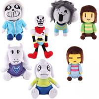 Wholesale Dolls Toys For Kids - 7pcs Lot 20-36cm Undertale Sans Papyrus Asriel Toriel Stuffed Doll Plush Toy For Kids Christmas Gifts