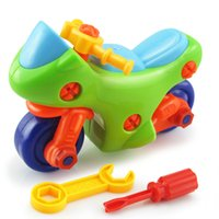 Wholesale Screw Nut Toy - Wholesale- Early Learning Education DIY Screw Nut Group Installed Plastic 3d Puzzle Disassembly Motorcycle Kids Toys for Children Toys