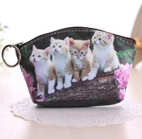 Wholesale 3d Printed Fabric - Lovely Coin Bags 3D Printing Cats & Doggies Wallets Purse Coin Holders Ladies & Girls Gifts
