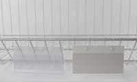 стоимость пластиковой стойки оптовых-Знак случае ценник крышка ПВХ пластиковый ценник этикетки дисплей держатель, висит пряжки на сетке стойки корзины полки