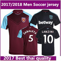 Men black brown shirts - Thai quality West Ham United away soccer jerseys FEGHOULI CARROLL SAKHO AYEW West Ham United home football shirts
