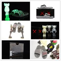 Wholesale Man Novelty Night Lights - With Box KAWS x Airs Hydro Cool XX Retro 4 Cement Grey Night Light Suede Slippers for Cheap Sale IV 4s Sandals Slides Slipper 40-46