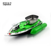 Wholesale Rubber Boat Fishing - Wholesale- New Arrival T10 Electric Wireless Mini RC Bait Boat Fast RC Fishing Adventure Lure Bait Boat for Finding Fish