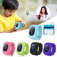 Wholesale Gps Kid Tracker Wristwatch - Wholesale- Q50 Smart Kid Safe smart Watch SOS Call Location Finder Locator Tracker for Child Anti Lost Monitor Baby Son Wristwatch Non GPS