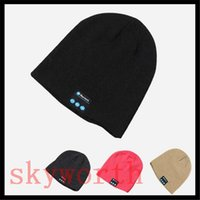 Wholesale best wireless microphone bluetooth for sale - Group buy Best Chrismas Gift Bluetooth Music Hat Soft Warm Beanie Cap with Stereo Headphone Headset Speaker Wireless Microphone