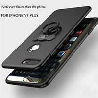 Wholesale Buckle Rings Sale - Hot sale metal case for iphone 6 iphone 7 plus Samsung S8 plus new cases with ring buckle wholesale protector for cell phone