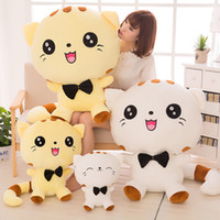 Wholesale Toy Sleeping Dogs - Hot Selling Big Face Cats Pillow Baby Doll Children Adult Soft Stuffed Plush Animals Toys Lumbar Sleep Pillow Birthday Gift Free Shipping