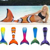 Wholesale Christmas Swimwear - Mermaid Cosplay Swim Swimwear Summer Fish Tail Beach Swim Clothing For Kids Children Adult Gifts Not Foot Flipper PX-S37