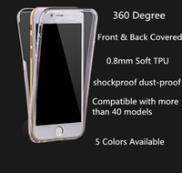 Wholesale Back Case Transparent Touch - For Galaxy S8 S6 edge Plus S7 edge J7 Prime 360 Degree Full Protective TPU Transparent Case Front and Back Cover Touch Case