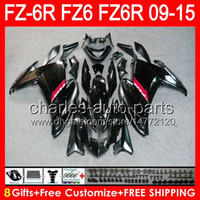 ingrosso yamaha fz6r abs-nero lucido 8gifts Per YAMAHA FZ6R 09 10 11 12 13 14 15 FZ6N FZ6 89NO5 FZ-6R FZ 6R 2009 2010 2011 2012 2013 2014 nero lucido 2015 Carenatura