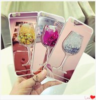 Wholesale iphone case 5s for sale - Glitter Liquid Red Wine Mirror Cases Soft TPU Shining Bling Style For IPhone Plus S Plus S Cradle