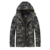Wholesale Spring Military Jacket Men - Bomber Men Jacket Slim Fit Jackets Hoodies Camouflage Coats Overcoat Military Style Male Large Size Clothing Spring Autumn 2017