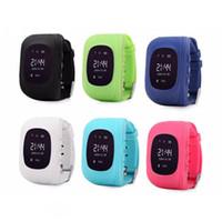 gsm tracker téléphone achat en gros de-Enfants GPS Tracker Enfants Étudiant SmartWatch Téléphone SIM Quadri-bande GSM Appel Sûr PK pour Android Apple Smart Watch Carte Sim