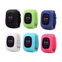 Wholesale gsm sim card for gps tracker resale online - Kids GPS Tracker Children Student SmartWatch Phone SIM Quad Band GSM Safe Call PK For Android Apple Smart Watch Sim Card