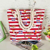 Wholesale Uk Brand Handbag - Bolsa Brand Fashon Totes UK Flag Print For Women Free Shipping Creative Canvas Hand Bags Women's Shopping Handbag Wholesale 2017 New Arrival