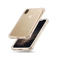 Wholesale Crystal Fund - Shockproof Crystal Soft TPU Cover for Iphone 8 6 7 plus Case Clear Slim Silicone case For Galaxy S8 S7 Edge One plus Note 8 Cases Fund