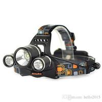 precio de pilas de camping al por mayor-Buen precio 5000 lumen T6 + 2R5 Boruit Head Light Headlamp Luz de cabeza exterior Lámpara HeadLight recargable por 2x 18650 batería pesca Camping