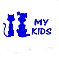Wholesale Auto Dog Door - 15 cm x 9 cm My Kids Cat And Dog Jdm Vinyl Decal Car Stickers For Car Window Glass SUV Door Die Cut Bumper Auto Parts Scratches Motorc