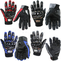 Wholesale Riding Full Finger Protective Gloves - Wholesale- Full Finger Anti-Slip Motorcycle Gloves Moto Guantes guanti Outdoor Cycling Sports Riding Racing Breathable Protective Gears
