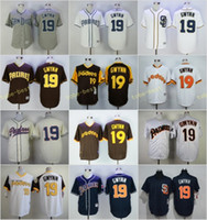Baseball padres throwback jerseys - San Diego Padres Tony Gwynn Home Away Jersey Blue White Grey Cream Brown Camo Throwback Pullover Retro Cool Base Stitched