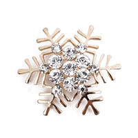Wholesale korean corsage brooch for sale - Group buy Upscale Korean Style Alloy Crystal Rhinestone Christmas Snowflake Gold Silver Brooch Corsage Christmas Gift