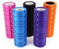Wholesale Exercise Pilates Gym - Wholesale-6 Colors High Density Floating Point Fitness Gym Exercises EVA Yoga Foam Roller for Physio Massage Pilates Tight Muscles