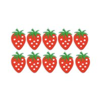 Wholesale Strawberry Iron Patch - 10PCS strawberry embroidery patches for clothing iron patch for cloth applique sewing accessories stickers badge on clothes iron on patches