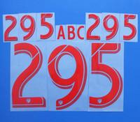 2017-2018 Major league Soccer Red Gold Custom soccer Nameset Customize Name A-Z Number 0-9 Print MLS Player nameset