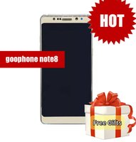 Wholesale 64 Gb Cheap - Top quality goophone note 8 5.7inch Edge Curved smartphone Android 7.0 Quad Core shown 3G RAM 64G ROM cheap china phones