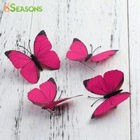 Wholesale Hair Pin Bag - Wholesale- 8SEASONS 1PC Brooch Fabric Ethereal Butterfly Brooches Pins Badges Clothes Hair Bags Decoration Accessories Fuchsia   Blue 6x5cm