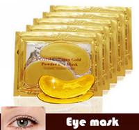 Wholesale Collagen Golden Eye Mask - Free DHL FEDEX  EMS Anti-Wrinkle NEW Crystal Collagen Gold Powder Eye Mask Golden Mask stick to dark circles