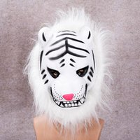 Wholesale Show Mask Animal - Children's Day Monkey Tigers Animal Cosplay Performance Dress Up Plush Plush EVA Mask dance show Long hair mask