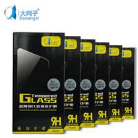lg telefonbildschirme großhandel-DWZ Für I-phone 7 LG Aristo V3 Stylo 3 Displayschutzfolien aus gehärtetem Glas für I-phone 6 2.5D Explosions-Splitter-Schutzfolie Film